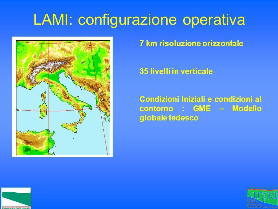 LAMI: configurazione operativa