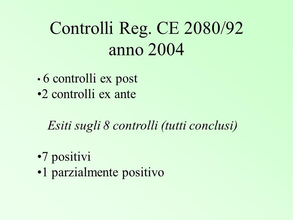 Esiti sugli 8 controlli (tutti conclusi)