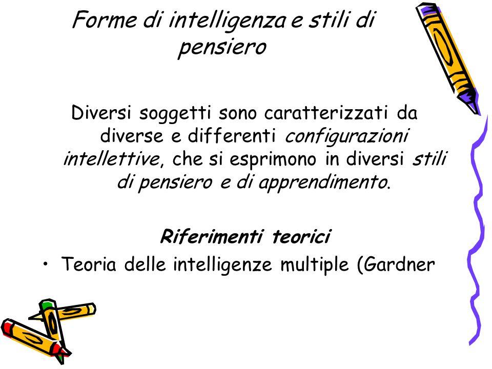Forme di intelligenza e stili di pensiero
