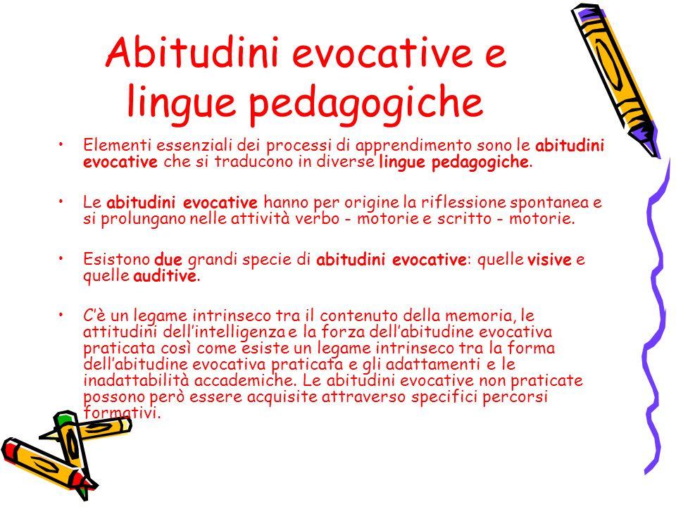 Abitudini evocative e lingue pedagogiche