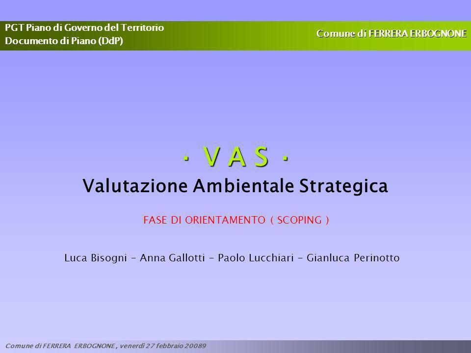 · V A S · Valutazione Ambientale Strategica