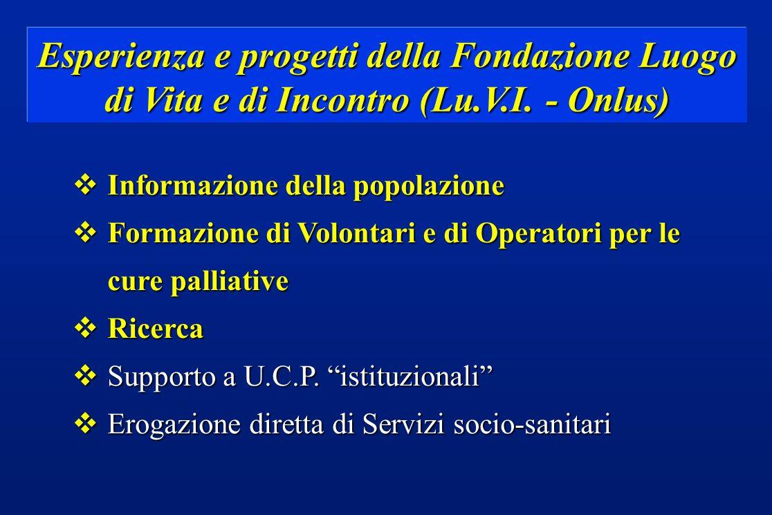 Esperienza e progetti della Fondazione Luogo di Vita e di Incontro (Lu