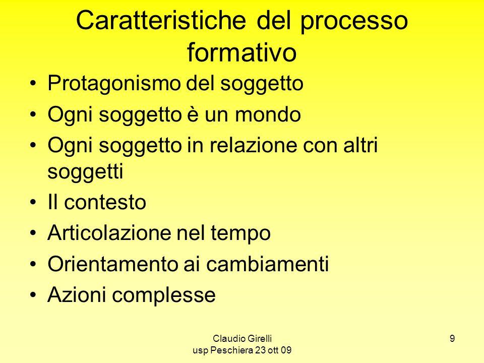 Caratteristiche del processo formativo