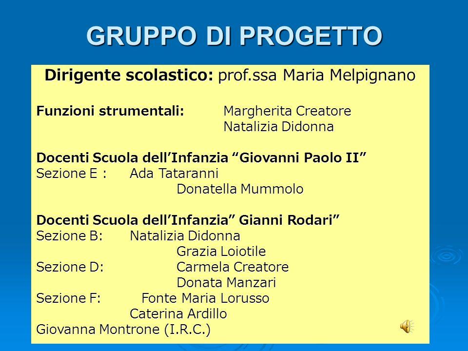 Dirigente scolastico: prof.ssa Maria Melpignano