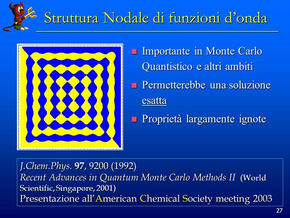 Struttura Nodale di funzioni d'onda