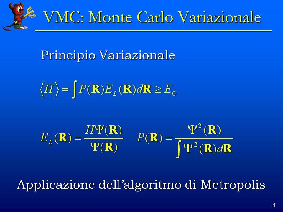 VMC: Monte Carlo Variazionale