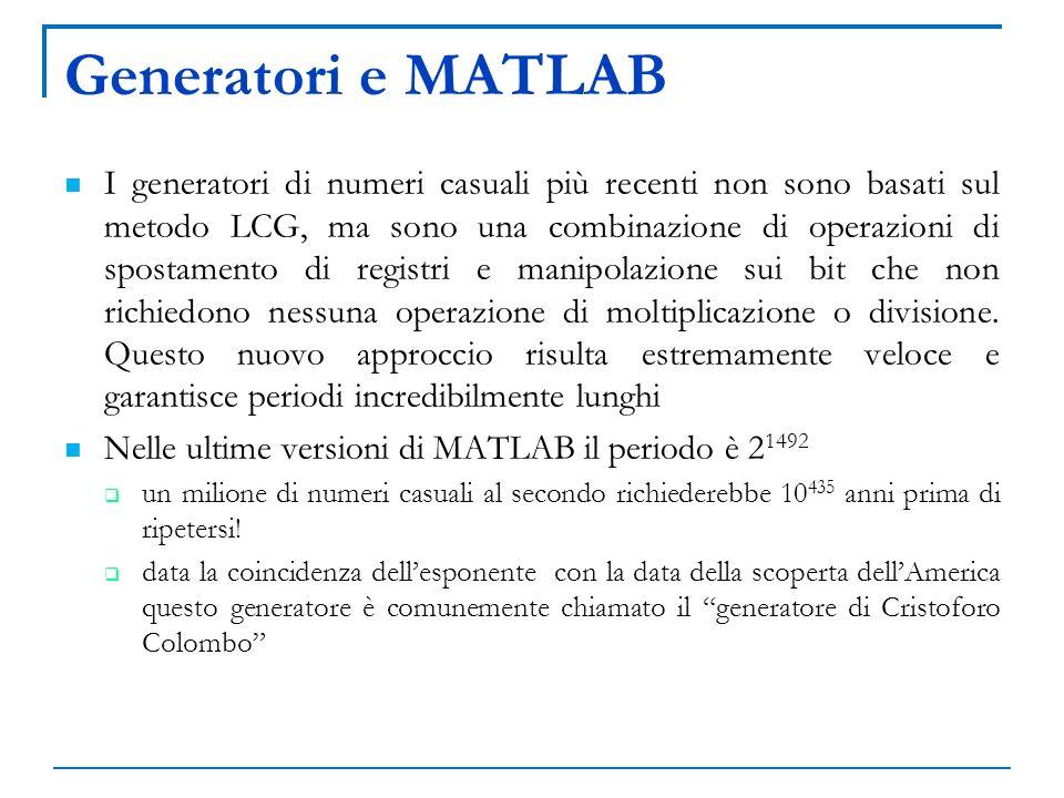Generatori e MATLAB