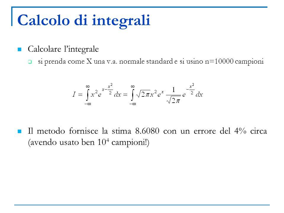Calcolo di integrali Calcolare l'integrale