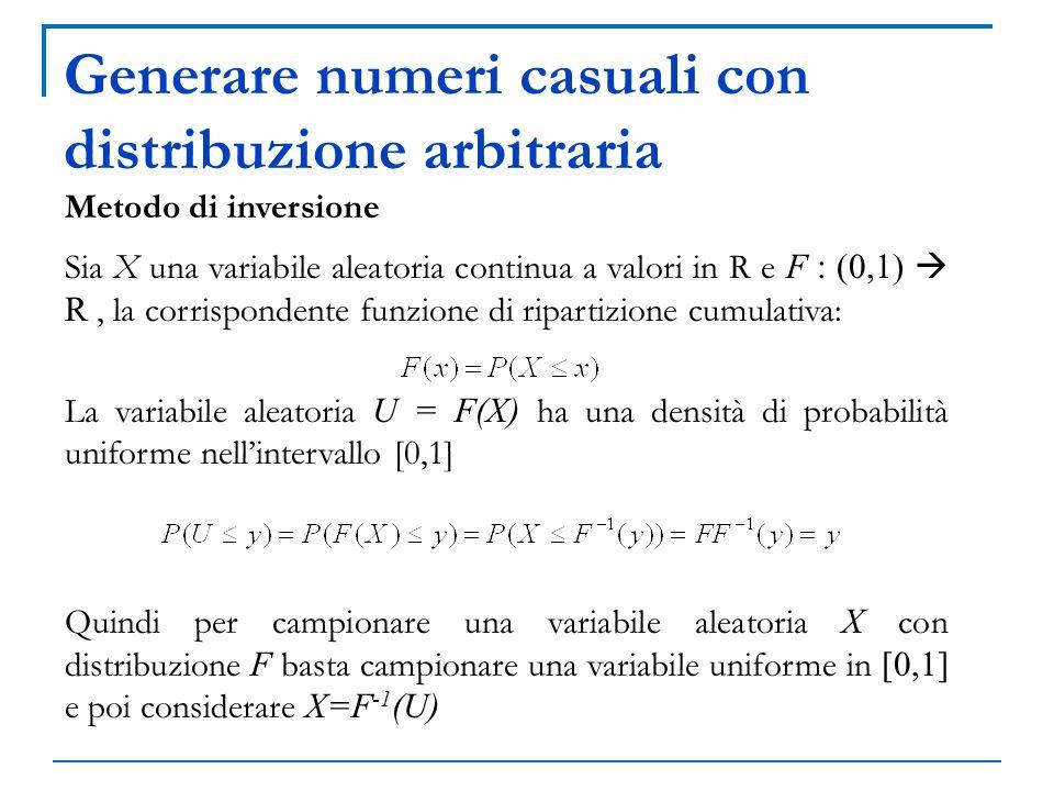 Generare numeri casuali con distribuzione arbitraria