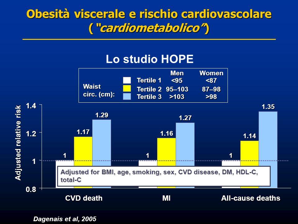 Obesità viscerale e rischio cardiovascolare ( cardiometabolico )