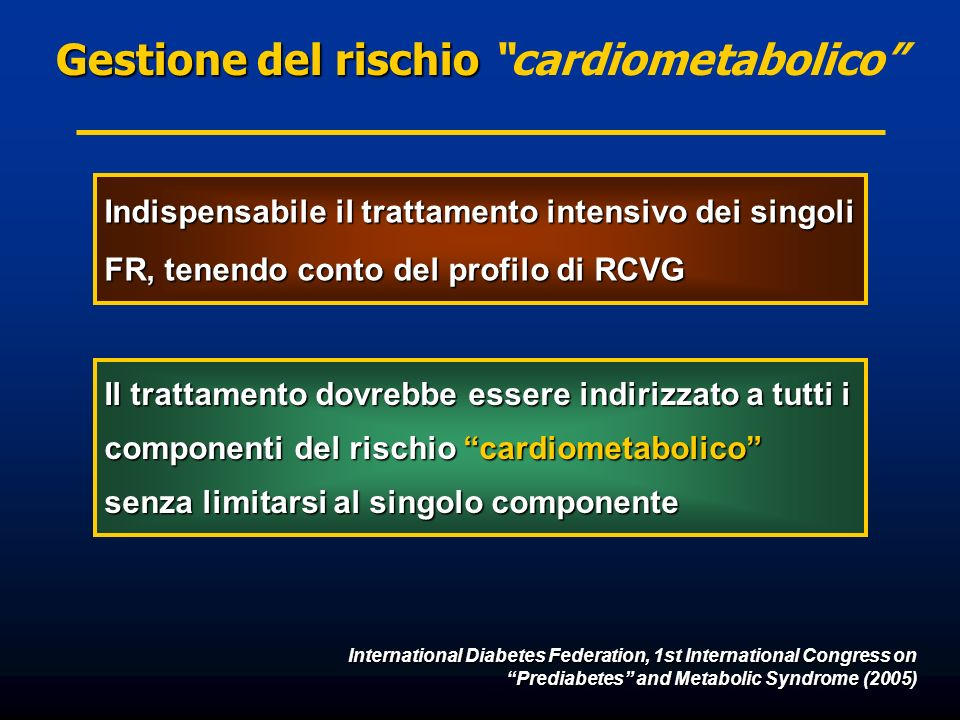 Gestione del rischio cardiometabolico