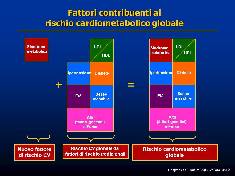 Fattori contribuenti al rischio cardiometabolico globale