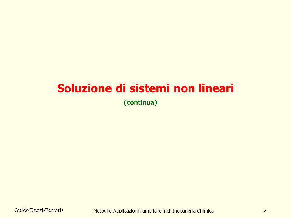 Soluzione di sistemi non lineari