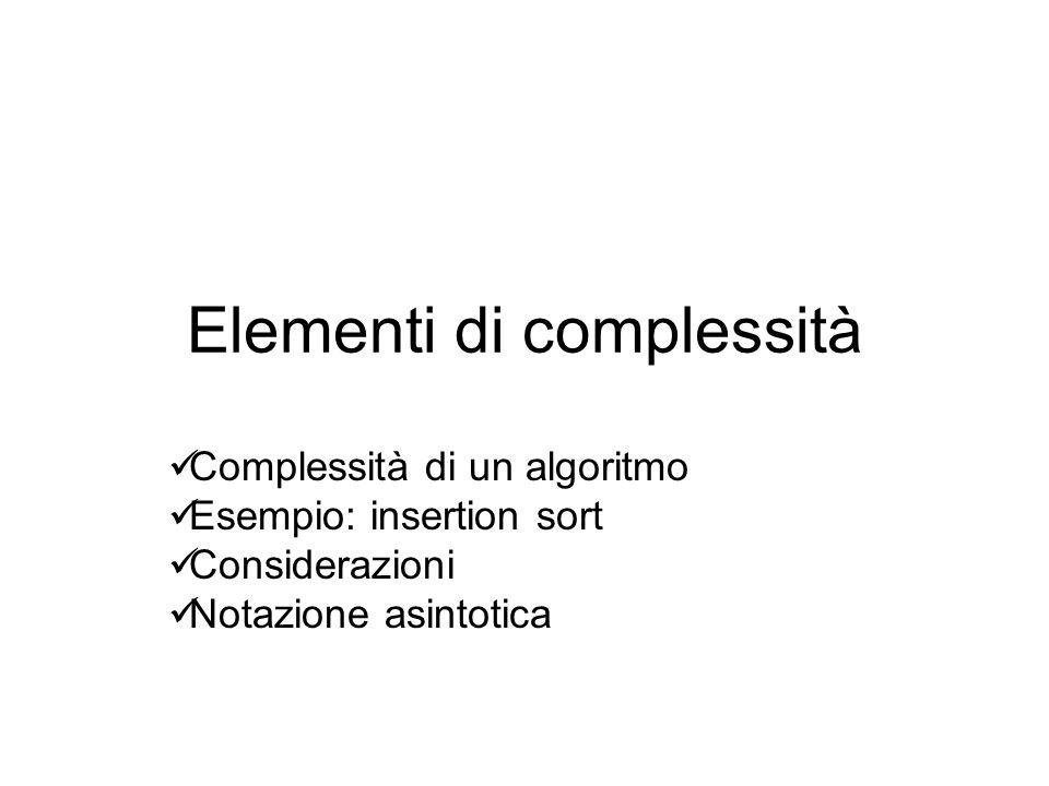 Elementi di complessità