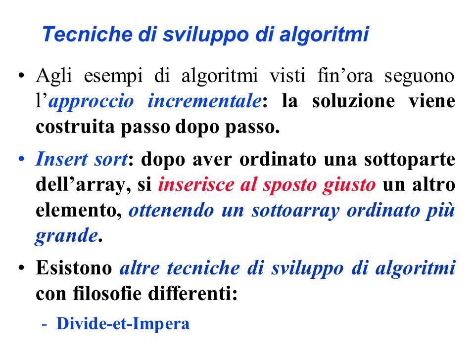 Tecniche di sviluppo di algoritmi