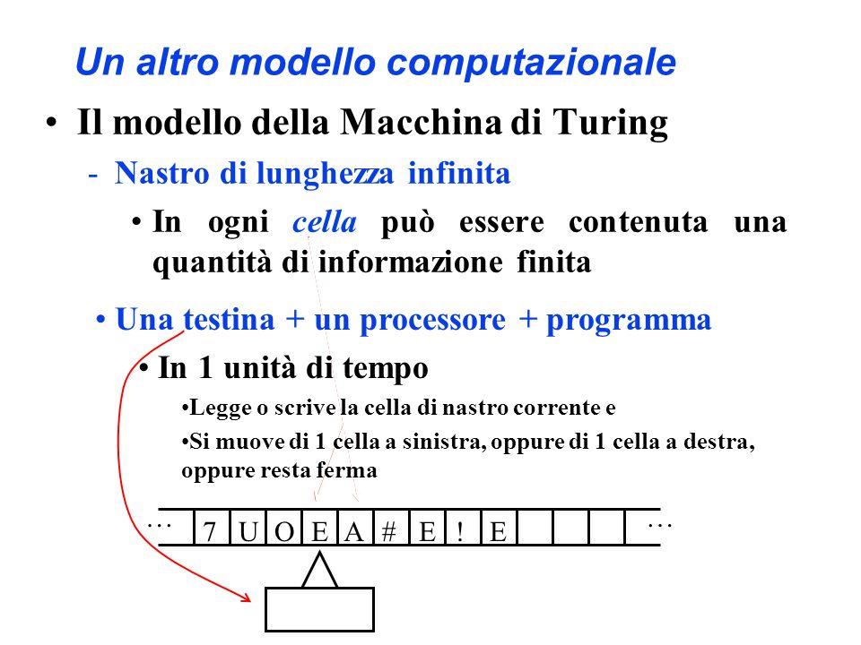 Un altro modello computazionale