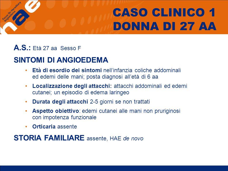 CASO CLINICO 1 DONNA DI 27 AA