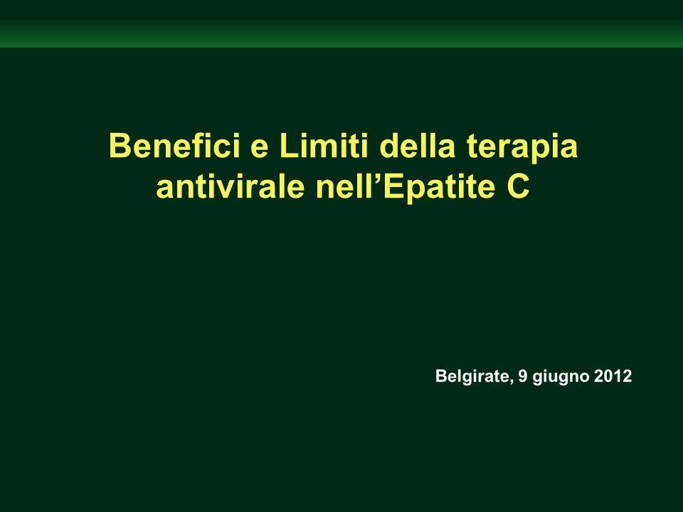Benefici e Limiti della terapia antivirale nell'Epatite C