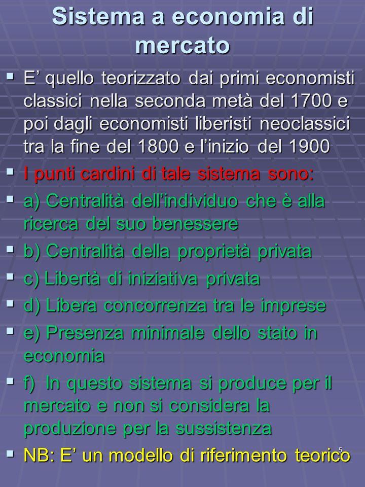 Sistema a economia di mercato