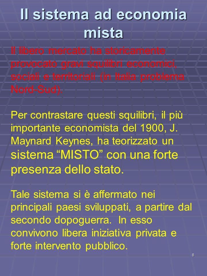 Il sistema ad economia mista