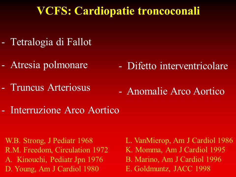 VCFS: Cardiopatie troncoconali