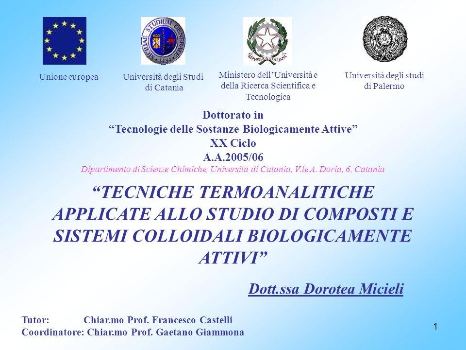 Unione europea Università degli Studi. di Catania. Ministero dell'Università e della Ricerca Scientifica e Tecnologica.