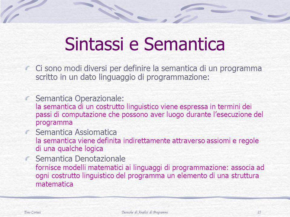 Tecniche di Analisi di Programmi