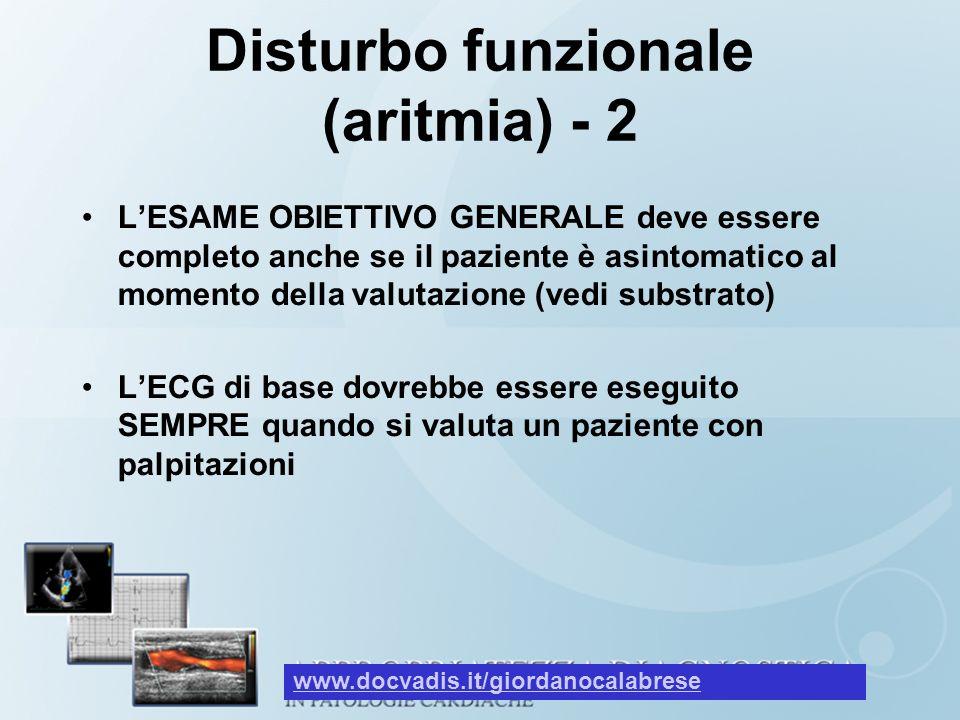 Disturbo funzionale (aritmia) - 2