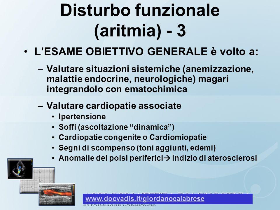 Disturbo funzionale (aritmia) - 3
