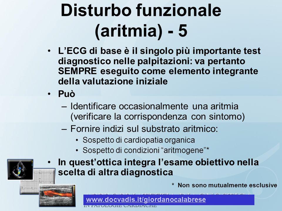 Disturbo funzionale (aritmia) - 5