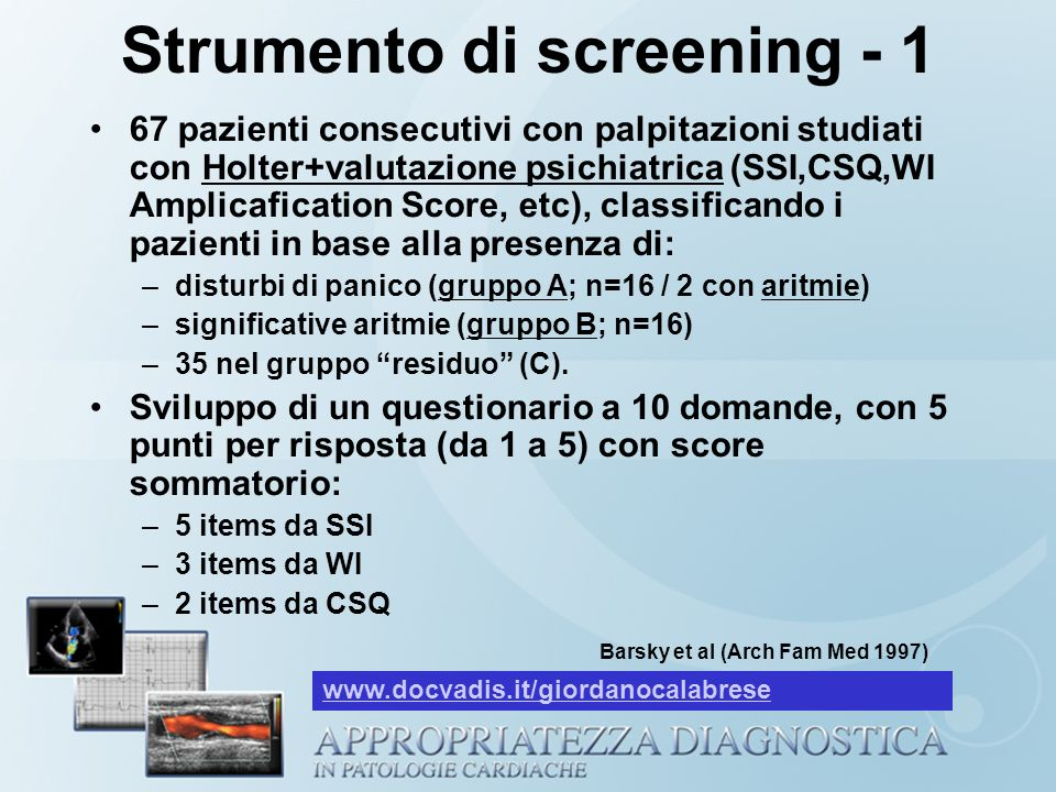 Strumento di screening - 1
