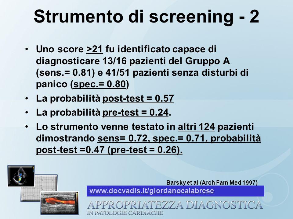 Strumento di screening - 2