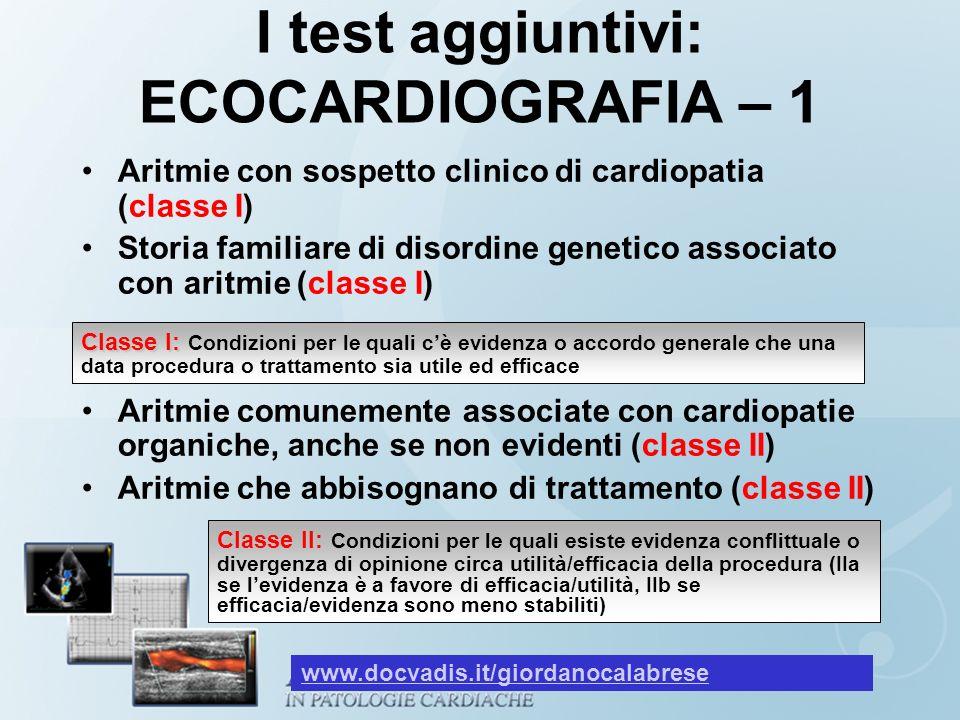 I test aggiuntivi: ECOCARDIOGRAFIA – 1