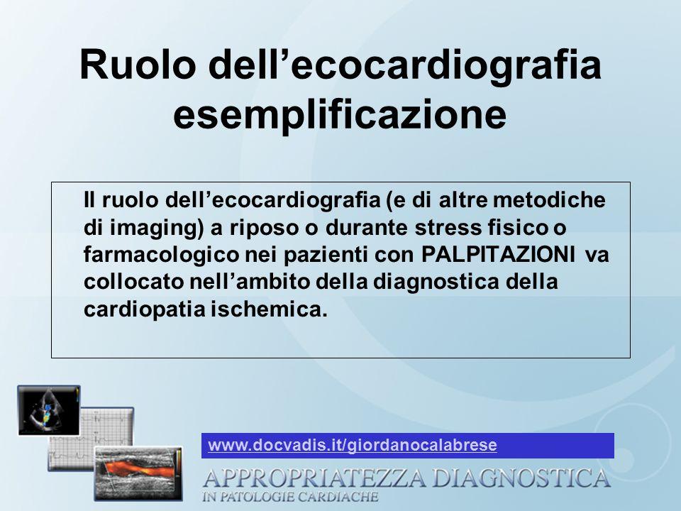 Ruolo dell'ecocardiografia esemplificazione