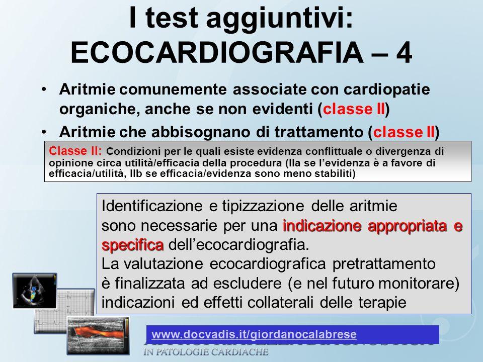I test aggiuntivi: ECOCARDIOGRAFIA – 4