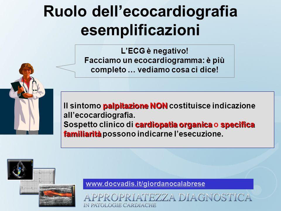 Ruolo dell'ecocardiografia esemplificazioni