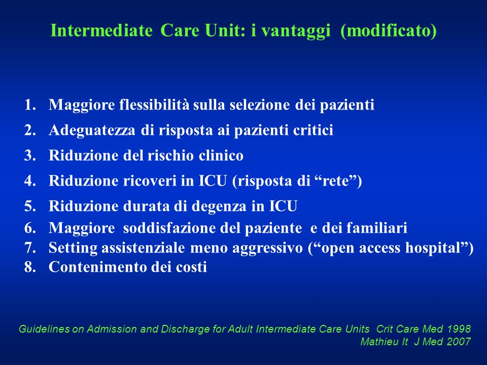Intermediate Care Unit: i vantaggi (modificato)