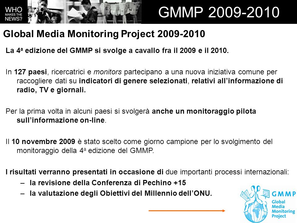 GMMP 2009-2010 Global Media Monitoring Project 2009-2010