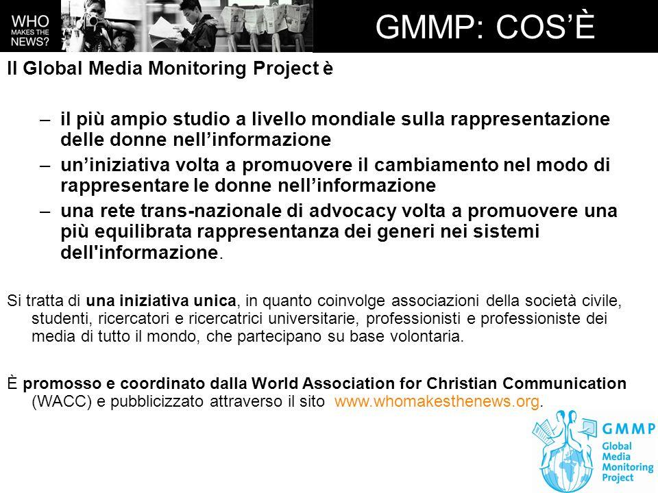 GMMP: COS'È Il Global Media Monitoring Project è