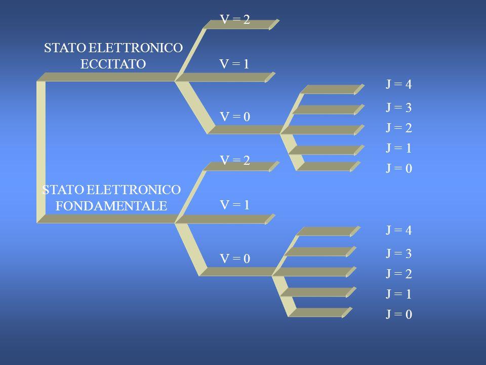 STATO ELETTRONICO ECCITATO V = 1