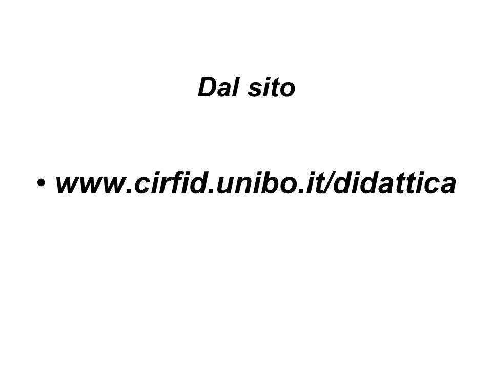 Dal sito www.cirfid.unibo.it/didattica