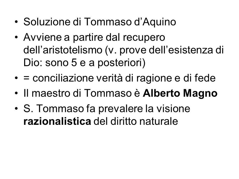 Soluzione di Tommaso d'Aquino