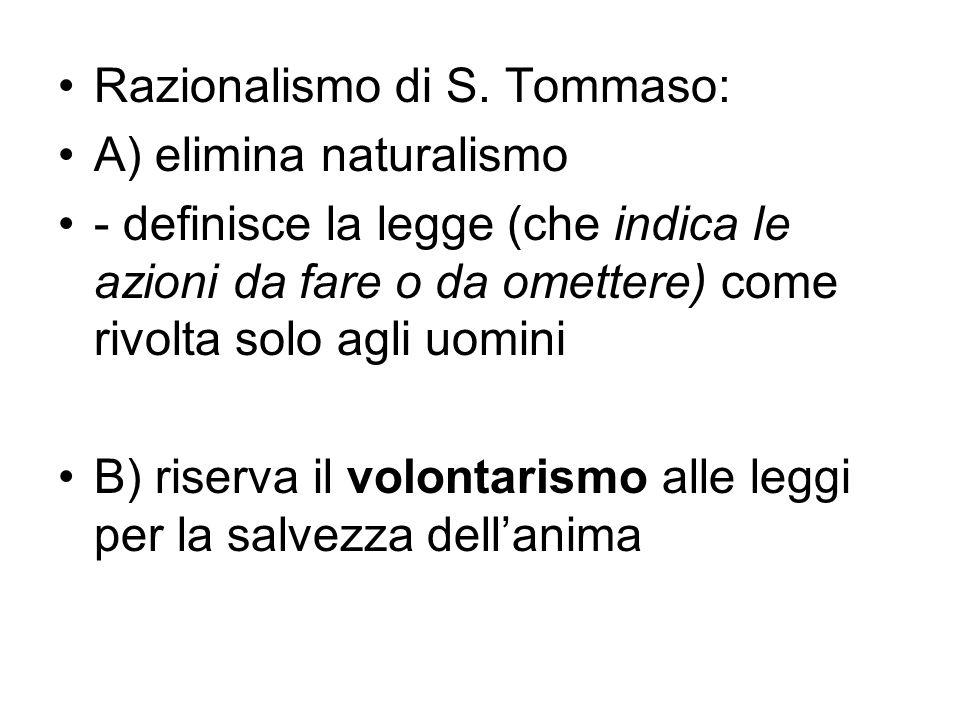 Razionalismo di S. Tommaso: