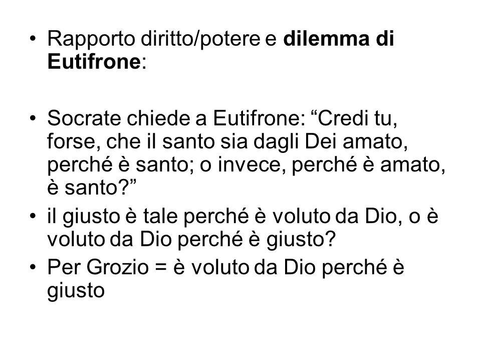 Rapporto diritto/potere e dilemma di Eutifrone: