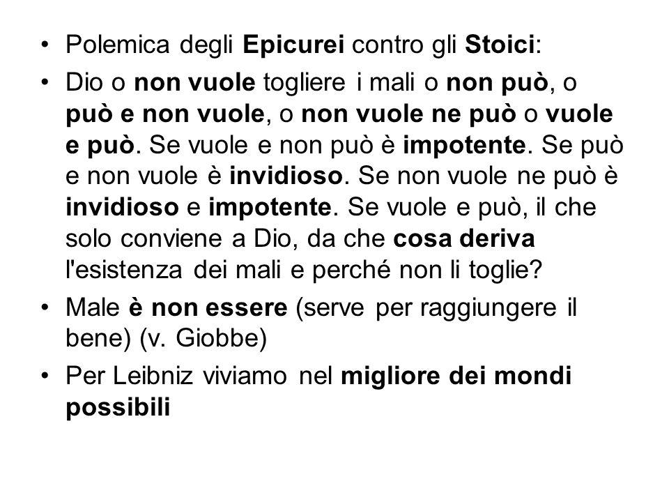 Polemica degli Epicurei contro gli Stoici: