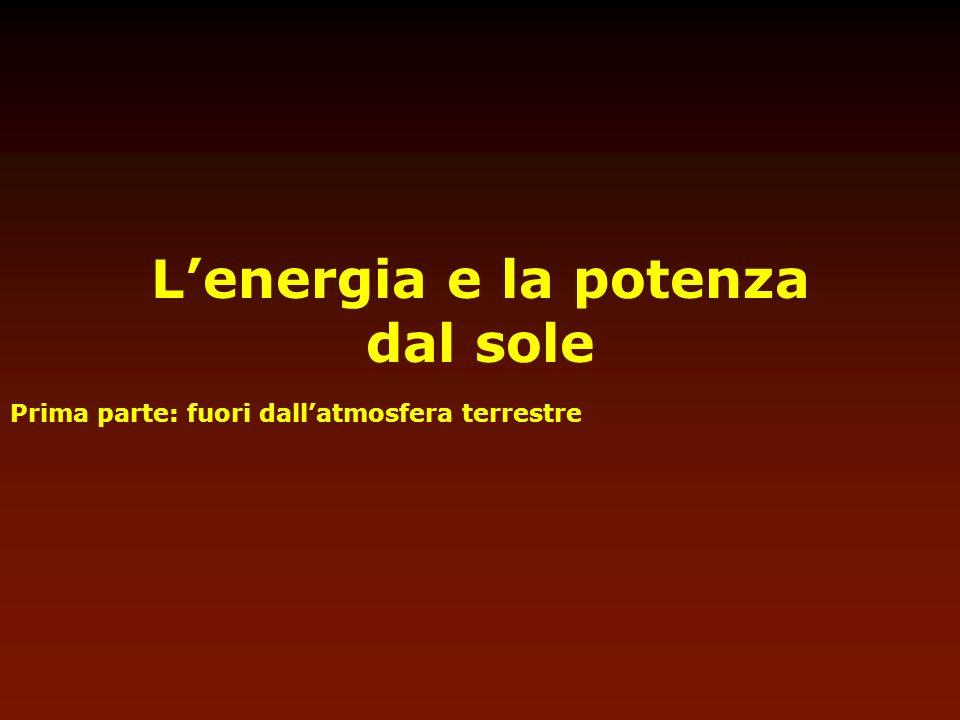 L'energia e la potenza dal sole