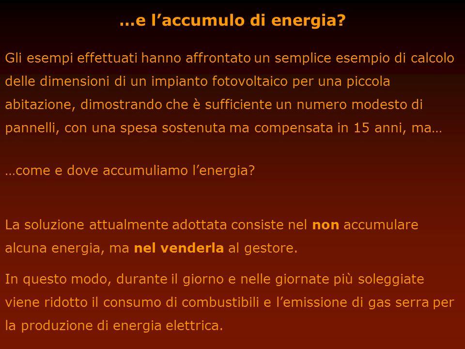 …e l'accumulo di energia