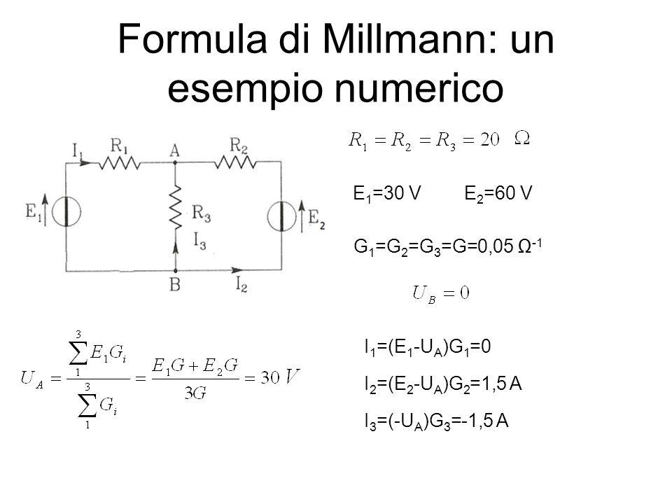 Formula di Millmann: un esempio numerico