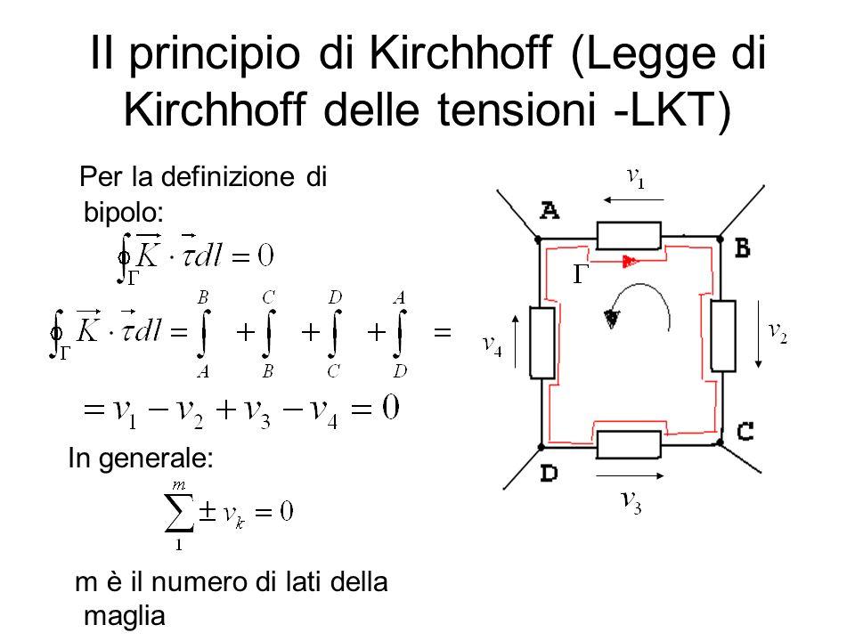 II principio di Kirchhoff (Legge di Kirchhoff delle tensioni -LKT)
