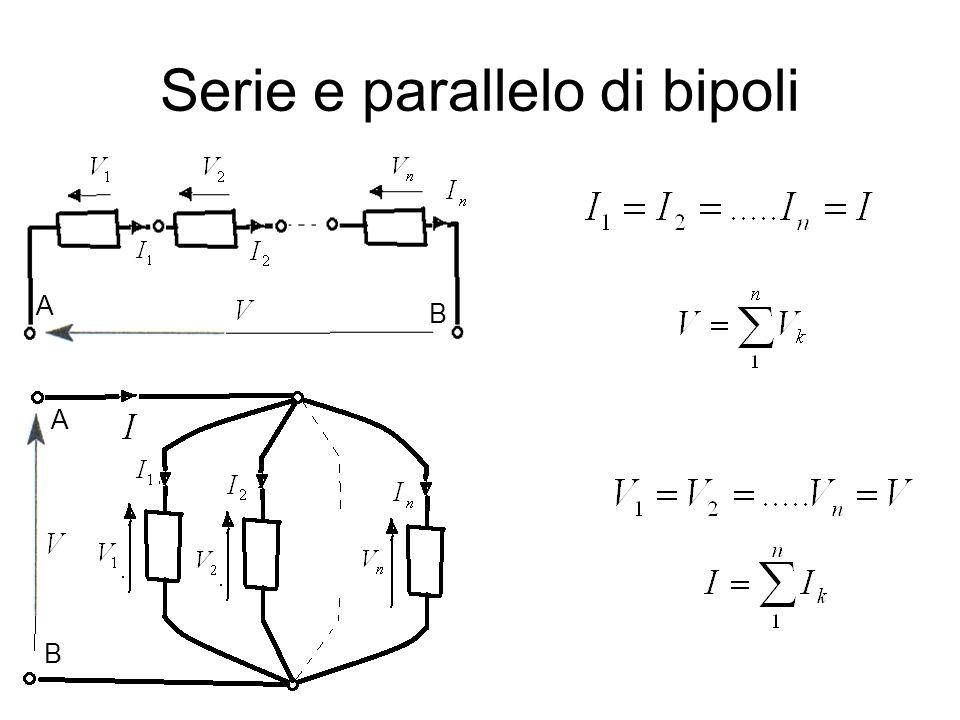 Serie e parallelo di bipoli
